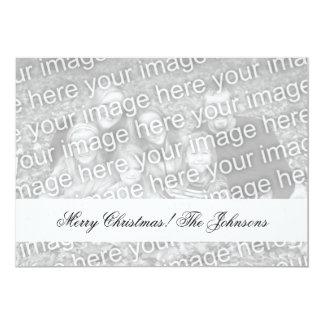 """Doble las tarjetas de Navidad echadas a un lado de Invitación 5"""" X 7"""""""