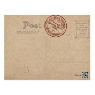 Doble-Vintage de la oficina de correos de Playa de Tarjeta Postal