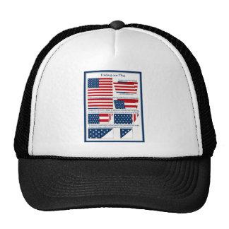 Dobleces de la bandera gorra