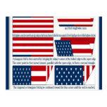 Dobleces de la bandera postal