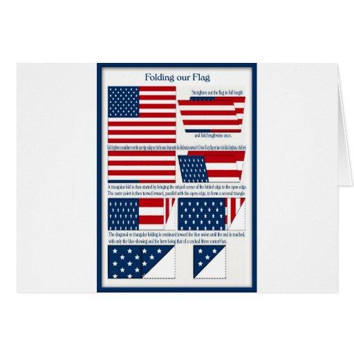 Dobleces de la bandera tarjeta