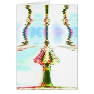 Dobleces terrestres 5 tarjeta de felicitación