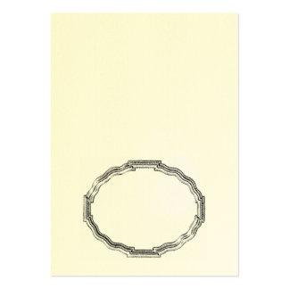 Doblez oval elegante del marco él usted mismo tarj plantilla de tarjeta personal