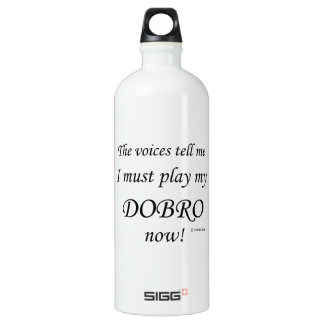 Dobro Voices Say Must Play Aluminum Water Bottle
