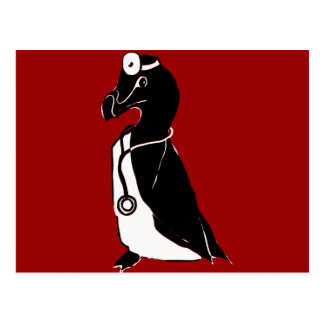 """Doc Auk"" Black & White Auk Doctor Postcard"