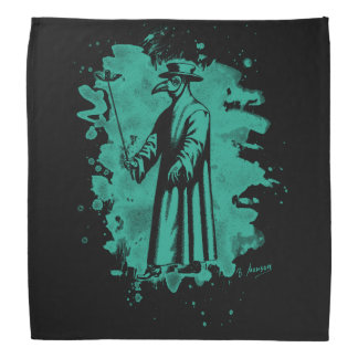 Doc beak - Plague doctor - bleached green Bandana
