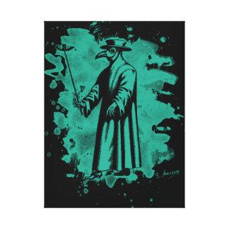 Doc beak - Plague doctor - bleached green Canvas Print