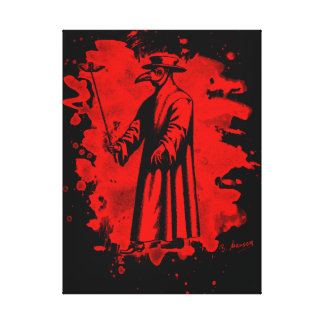 Doc beak - Plague doctor - bleached talk Canvas Print