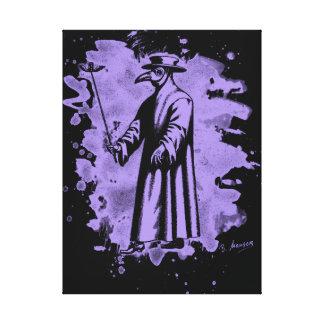 Doc beak - Plague doctor - bleached violet Canvas Print