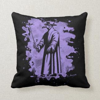 Doc beak - Plague doctor - bleached violet Pillow