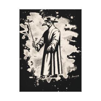 Doc beak - Plague doctor - bleached white Canvas Print