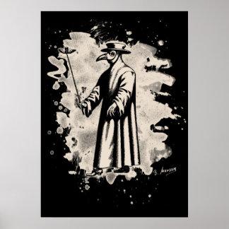 Doc beak - Plague doctor - bleached white Poster