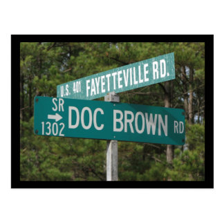 Doc Brown Rd Postcard