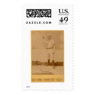 Doc Bushong Baseball Card 1889 Stamp