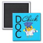 Doc Chick Medical School Grad 2 Inch Square Magnet