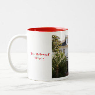 """Doc Hollywood"" Hospital location Two-Tone Coffee Mug"