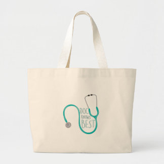 Doc Knows Best Large Tote Bag
