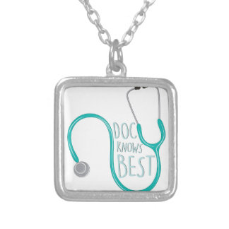 Doc Knows Best Silver Plated Necklace