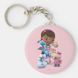 Doc McStuffins and Her Animal Friends Basic Round Button Keychain