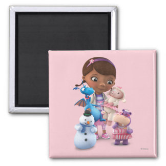 Doc McStuffins and Her Animal Friends 2 Inch Square Magnet