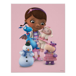 Doc McStuffins and Her Animal Friends Print