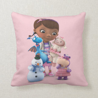 Doc McStuffins and Her Animal Friends Throw Pillow