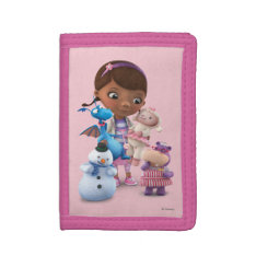Doc McStuffins and Her Animal Friends Tri-fold Wallet at Zazzle