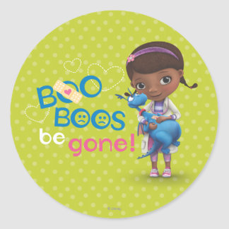 Doc McStuffins and Stuffy - Boo Boos Be Gone Classic Round Sticker