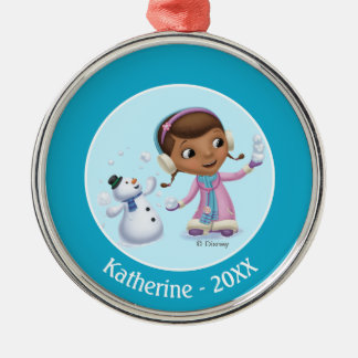 Doc McStuffins | Doc And Chilly Playing In  Snow Metal Ornament