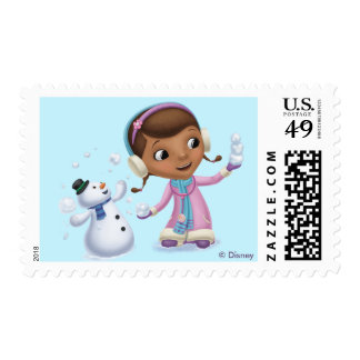 Doc McStuffins   Doc And Chilly Playing In  Snow Postage