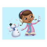 Doc Mcstuffins | Doc And Chilly Playing In  Snow Postcard at Zazzle