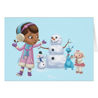 Doc McStuffins   Doc McStuffins Playing In Snow Card