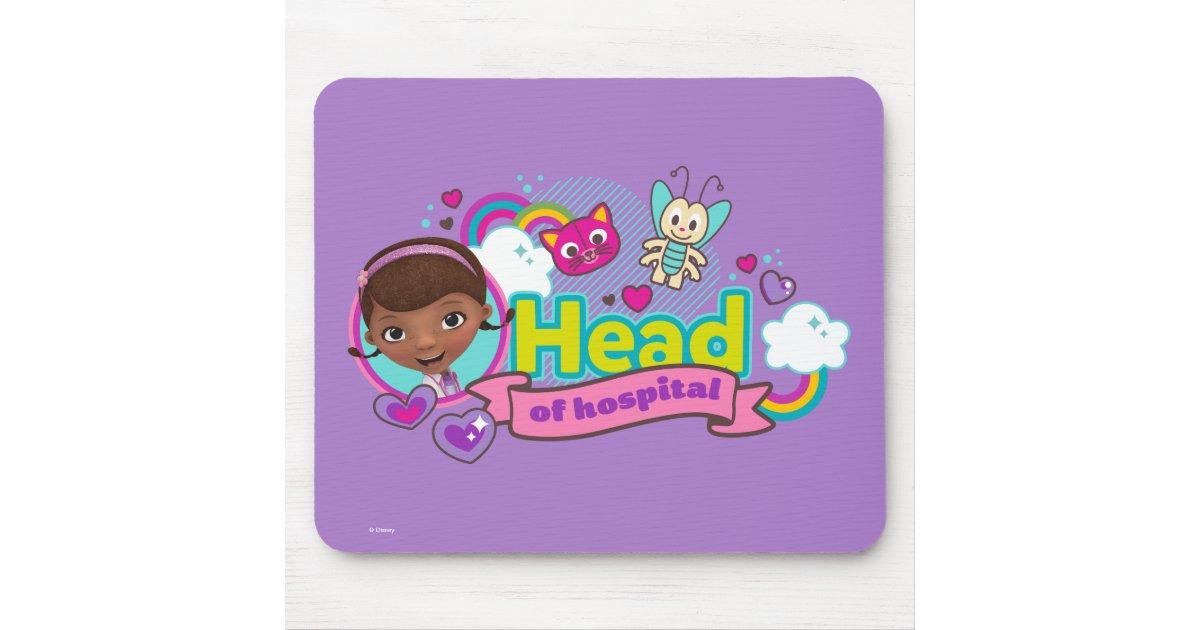 Doc Mcstuffins Head Of Hospital Mouse Pad Zazzle Com