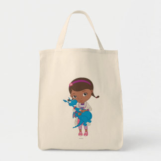 Doc McStuffins Holding  Stuffy Grocery Tote Bag