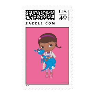 Doc McStuffins Holding  Stuffy Postage Stamps