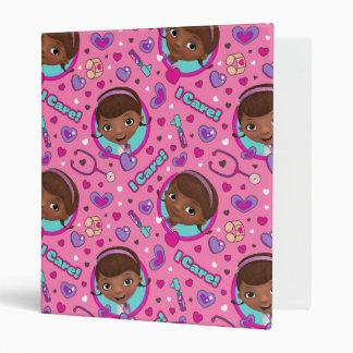 Doc McStuffins   I Care Pink Pattern 3 Ring Binder