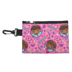Clip On Accessory Bag with Stylized Marshmallow Silhouette design