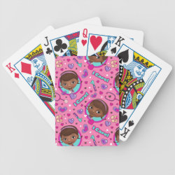 Stylized Marshmallow Silhouette Playing Cards