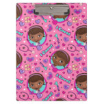 Doc McStuffins | I Care Pink Pattern Clipboard