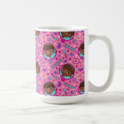 Classic White Mug with Stylized Marshmallow Silhouette design