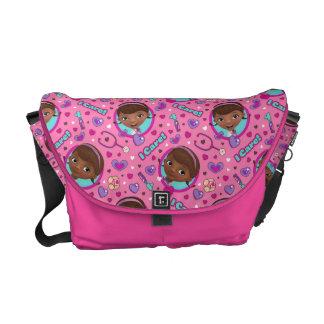 Doc McStuffins | I Care Pink Pattern Messenger Bag