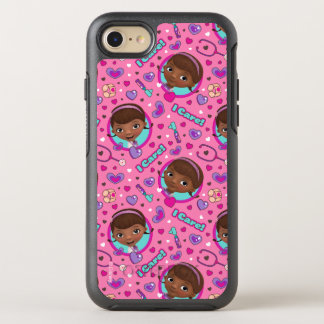 Doc McStuffins   I Care Pink Pattern OtterBox Symmetry iPhone 8/7 Case
