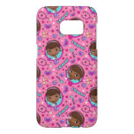 Doc McStuffins | I Care Pink Pattern Samsung Galaxy S7 Case