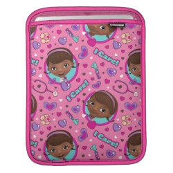 Stylized Marshmallow Silhouette iPad Sleeve
