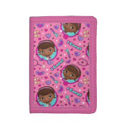 TriFold Nylon Wallet with Kawaii Cinderella design
