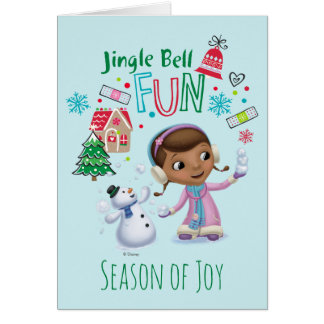 Doc McStuffins   Jingle Bell Fun Card