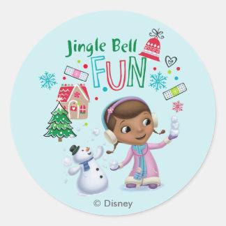 Doc McStuffins | Jingle Bell Fun Classic Round Sticker
