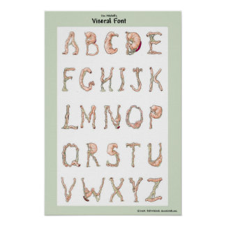 Doc Mitchell's Viseral Font. Poster