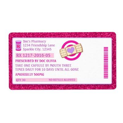 Medical prescription labels Nurse party favors | Zazzle.com