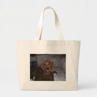 Doc the Dachshund Doxie Canvas Bags